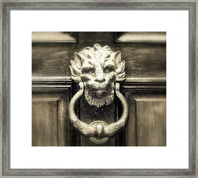 Enter Framed Print by Bruce Carpenter