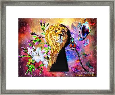 Enter Into The Sweetness Of God Framed Print by Dolores Develde
