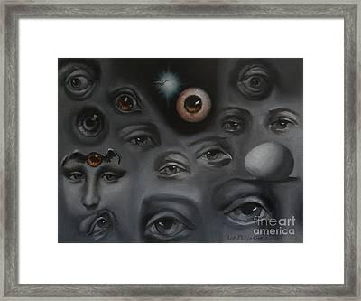 Enter-preyes Framed Print by Lisa Phillips Owens