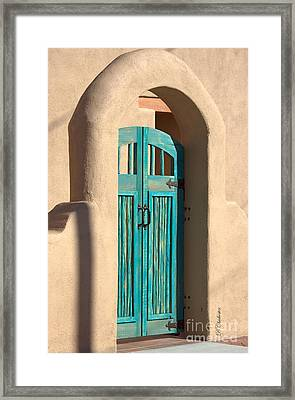 Enter Turquoise Framed Print by Barbara Chichester