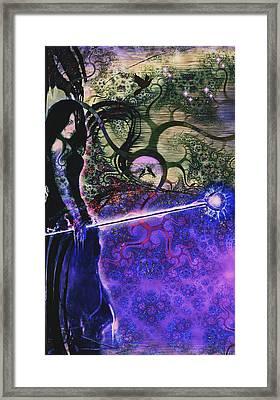 Entering In The Spirit Of The Night Framed Print by Linda Sannuti