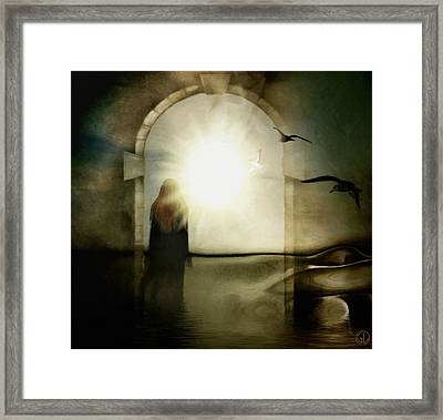 Entering The Gate Framed Print by Gun Legler