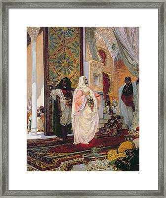 Entering The Harem Framed Print by Georges Clairin