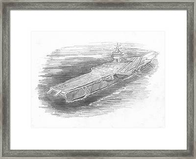 Enterprise Aircraft Carrier Framed Print by Michael Penny