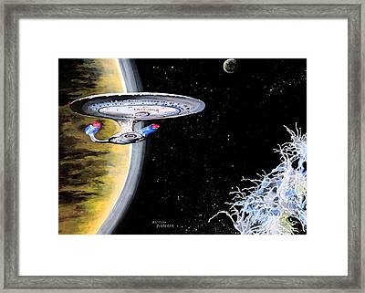 Enterprise Framed Print by Judith Groeger