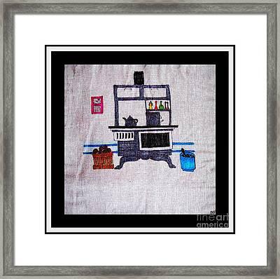 Enterprise Woodstove - Grey Framed Print by Barbara Griffin