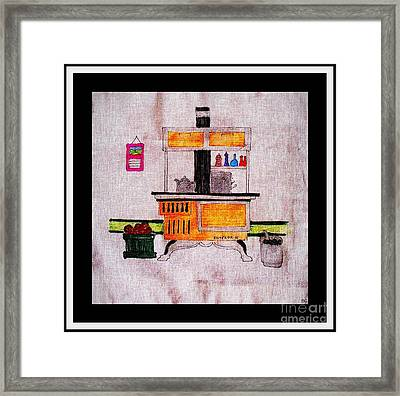 Enterprise Woodstove - Yellow Framed Print by Barbara Griffin