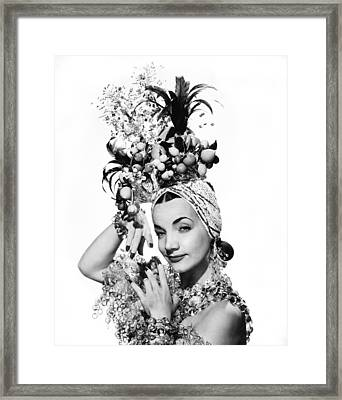 Entertainer Carmen Miranda Framed Print by Underwood Archives