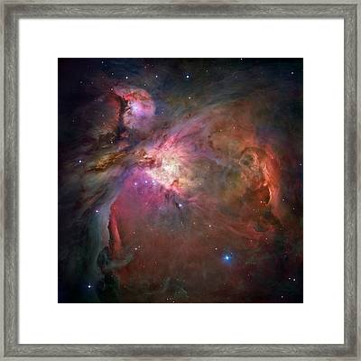 Entire Orion Nebula Maximum Resolution Framed Print by L Brown