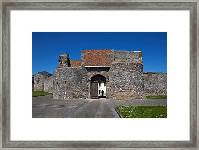 Entrance Gate, King Johns Castle Framed Print by Panoramic Images