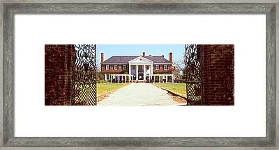 Entrance Gate Of A House, Boone Hall Framed Print by Panoramic Images