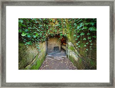 Entrance To A Winery Framed Print by Francesco Emanuele Carucci