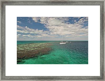 Entrance To Famous Blue Hole Framed Print by Michele Benoy Westmorland