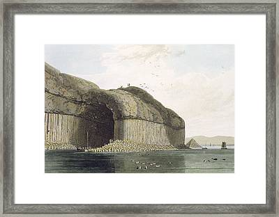 Entrance To Fingals Cave, Staffa Framed Print by William Daniell