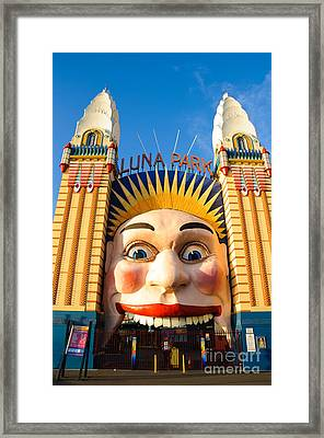 Entrance To Luna Park - Sydney - Australia Framed Print by David Hill