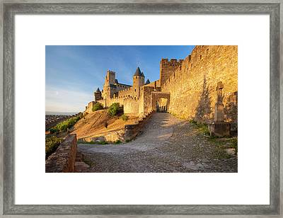 Entrance To Medieval Town Framed Print by Brian Jannsen