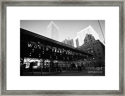 Entrance To The Rebuilt Path Train Station Ground Zero World Trade Center Site New York City Framed Print by Joe Fox