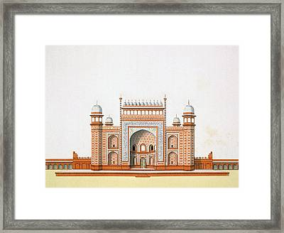 Entrance To The Taj Mahal Framed Print by German School
