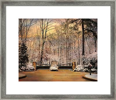 Entrance To Winter Framed Print by Jai Johnson