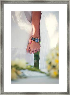 Entrusting Myself To You  Framed Print by Jenny Rainbow