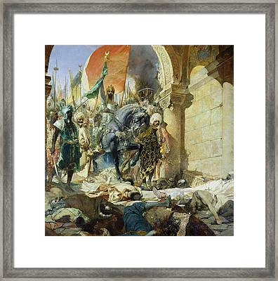 Entry Of The Turks Of Mohammed II Framed Print by Benjamin Constant