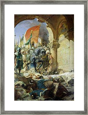 Entry Of The Turks Of Mohammed II Into Constantinople Framed Print by Benjamin Constant