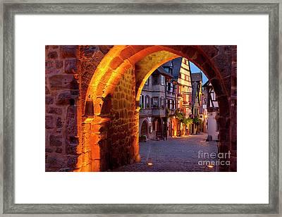 Entry To Riquewihr Framed Print by Brian Jannsen