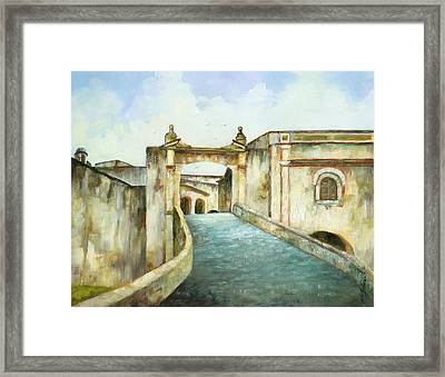 Entry To San Cristobal Framed Print by Monica Linville