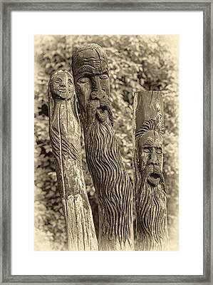 Ents Sepia Framed Print by Steve Harrington