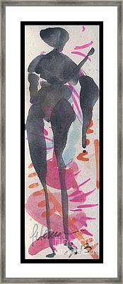 Entwined Figure Series No. 6  Your Back To The Drama Framed Print by Cathy Peterson