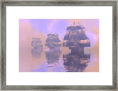 Enveloped By Fog Framed Print by Claude McCoy