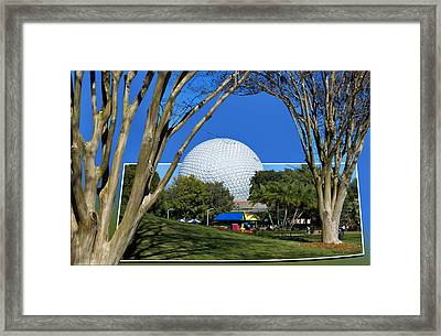 Epcot Globe 02 Framed Print by Thomas Woolworth