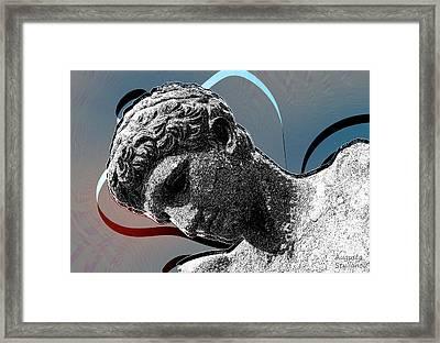 Ephebe Of Preveza Framed Print by Augusta Stylianou