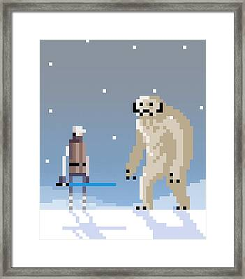 Epic Battle In The Snow Framed Print by Michael Myers
