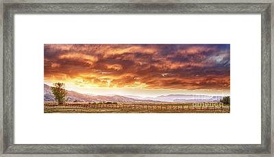 Epic Colorado Country Sunset Landscape Panorama Framed Print by James BO  Insogna
