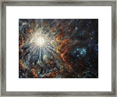Epiphany In Light Framed Print by Lucy West