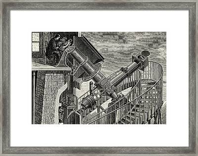 Equatorial Coude' Refracting Telescope Framed Print by Universal History Archive/uig