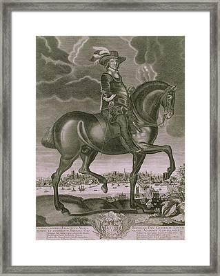 Equestrian Portrait Of Oliver Cromwell  Framed Print by Albert Haelwegh