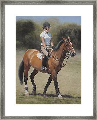 Equestrian Portrait Framed Print by Terry Guyer