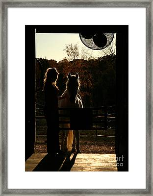 Equestrian Silhouette Framed Print by Suzi Nelson