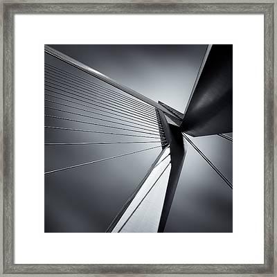 Erasmusbrug Framed Print by Dave Bowman