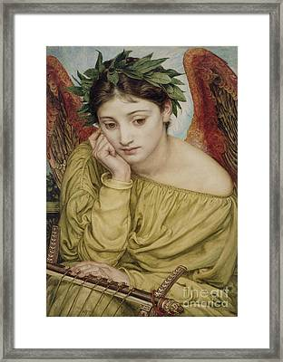 Erato Muse Of Poetry 1870 Framed Print by Sir Edward John Poynter
