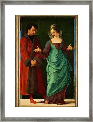 Ercole De Roberti - Portia And Brutus Framed Print by MotionAge Designs