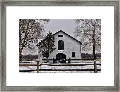Erdenheim Farm In Winter Framed Print by Bill Cannon