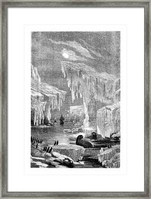 Erebus And Terror In The Ice 1866 Framed Print by E Grandsire