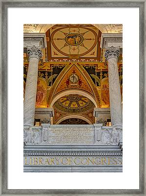 Erected Under The Act Of Congress Framed Print by Susan Candelario