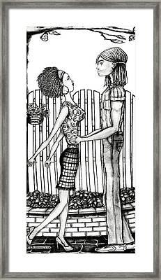 Eric And Lynnette Framed Print by Karen-Lee