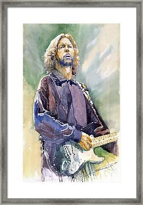 Eric Clapton 05 Framed Print by Yuriy Shevchuk