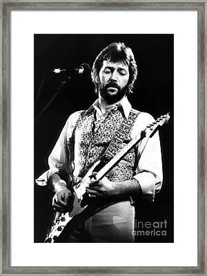 Eric Clapton 1977 Framed Print by Chris Walter