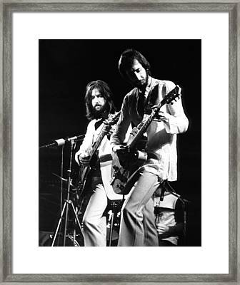 Eric Clapton And Pete Townshend  Framed Print by Chris Walter